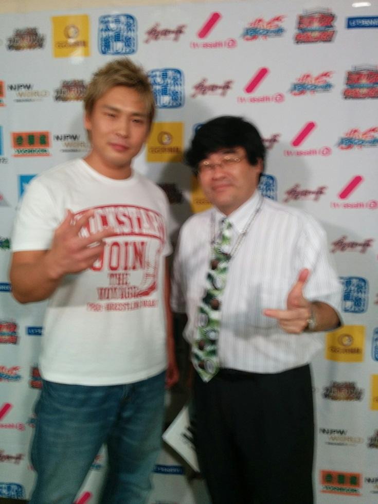 G1で暴れる中嶋勝彦がネクタイブログに登場