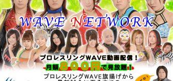 【プロレスリングWAVE】WAVE NETWORK 月額800円で見放題!