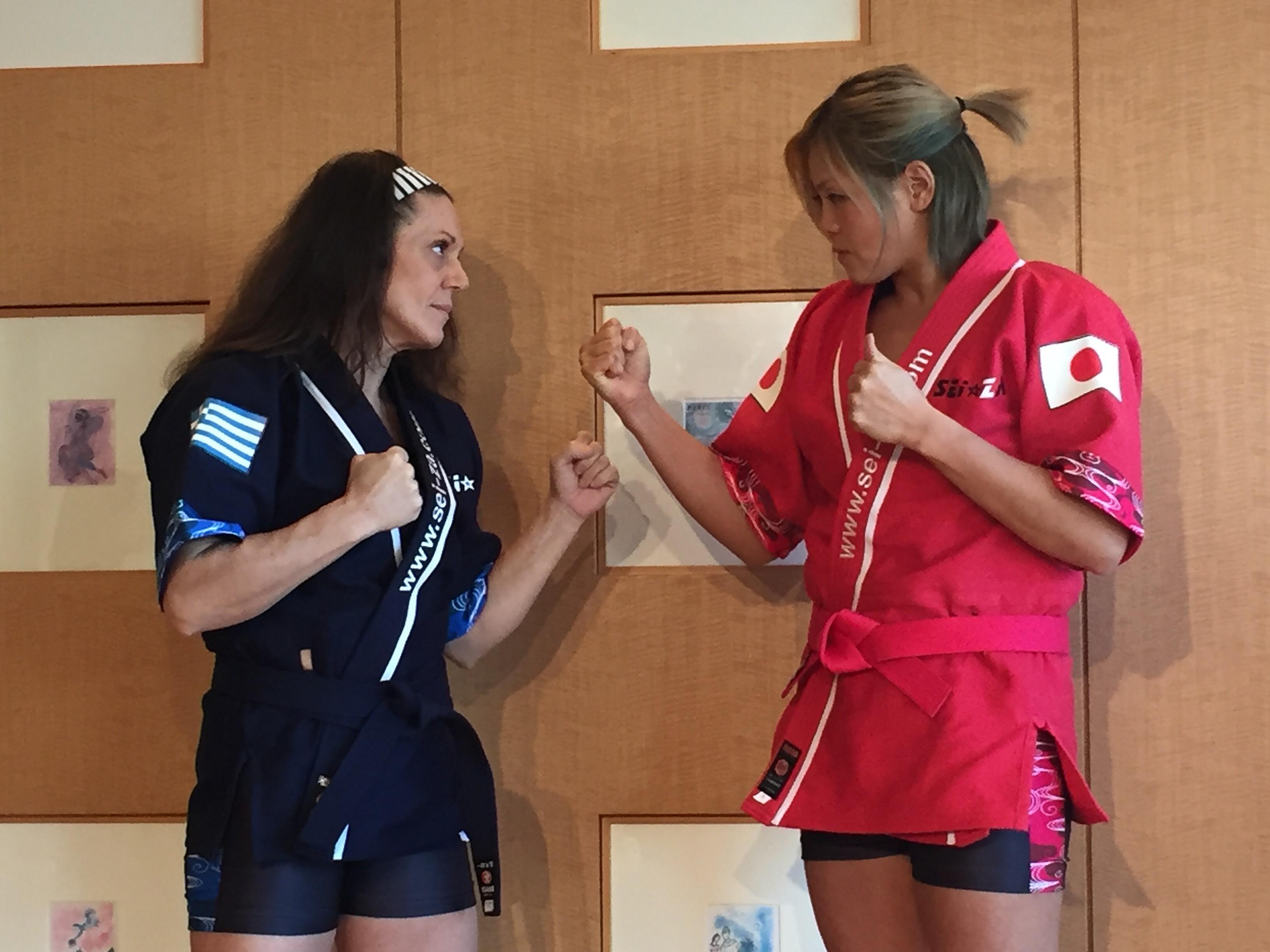 【SEAdLINNNG】19日旗揚げ戦を行うSEI☆ZAに参戦の高橋奈七永が前日記者会見に登場し「プロレスラーの強さを証明する」とコメントを出した!
