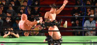 【プロレスリング・ノア】天才同士の夢の競演!ムースのパワーを跳ね除け丸藤がKAZMAを不知火で仕留める!!