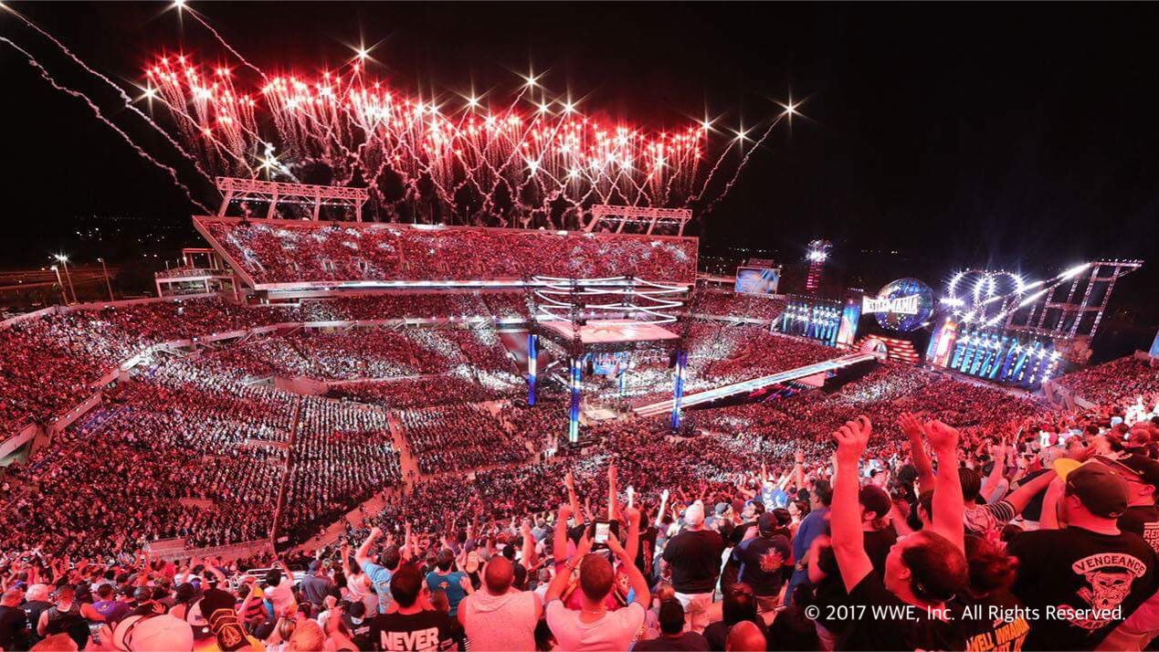 【WWE】<レッスルマニア33試合結果>4月2日(米国現地時間)、フロリダ州オーランドのキャンピング・ワールド・スタジアムにて全米50州と62カ国から75,245人の大観衆を集めてWWE最大の祭典「レッスルマニア33」が開催!
