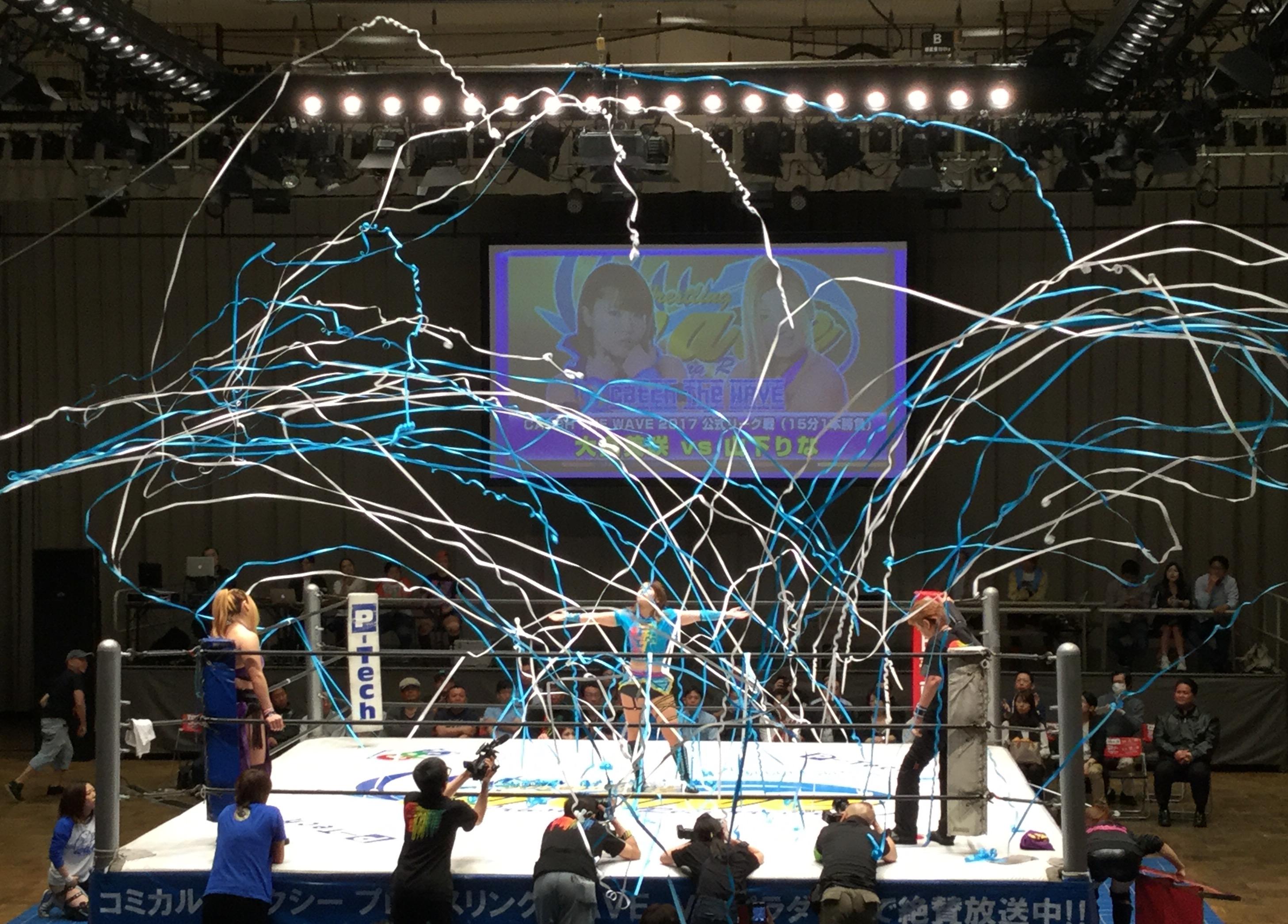【プロレスリングWAVE】5.3後楽園大会 CATCH THE WAVEは大畠、春日、Sareeeが勝利/夏がYシャツマッチに藤田あかねを勧誘/シングル・タッグが急遽タイトルマッチに