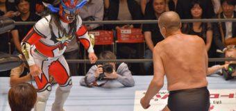 【プロレスリング・マスターズ】ライガーの挑発を藤原が受け場内大盛り上がり!試合後は師弟関係に戻りノーサイド!