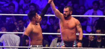 【WWE Live Tokyo】<6.30両国>戸澤がクルーザー級選手権トリプルスレットマッチに挑むも、自身のアシストでネヴィルが王座防衛に成功!ベルト奪取ならず!