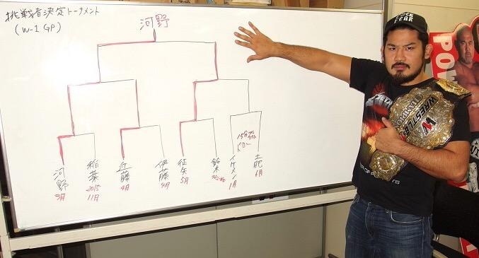 【WRESTLE-1】「これは僕がタップさせた人たちのトーナメントってことですね」横浜で優勝者を待ち受けるW-1王者が『W-1 GP 2017』を辛口予想!芦野祥太郎インタビュー