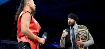 【WWE】中邑真輔がWWE王座戦を前にジンダー・マハルと対峙