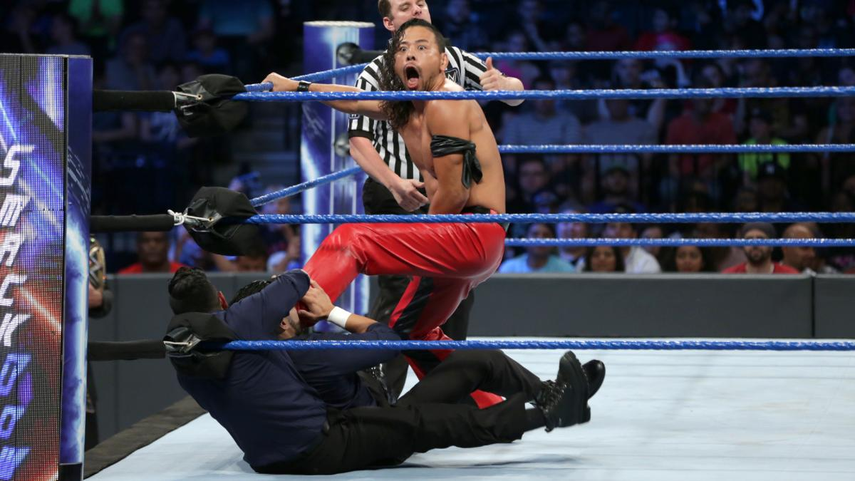 【WWE】中邑がシン・ブラザーズに快勝し、王者マハルをキンシャサ葬