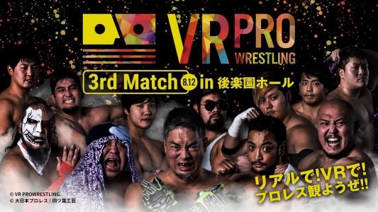 【大日本プロレス】「VRプロレスx大日本プロレスin後楽園ホール」2017年8月12日(18時30分開始)