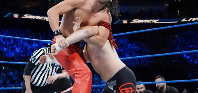 【WWE】中邑、ゼインをキンシャサ葬で6人タッグ制す/ヒデオ、205 Liveデビュー戦をGTSで快勝!