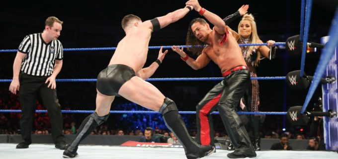 【WWE】「ミックスド・マッチ・チャレンジ」で中邑とベイラーが熱戦!