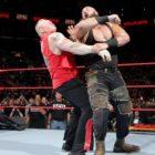 【WWE】<RAW25周年記念大会>決戦直前、レスナー、ストローマン、ケインが乱闘