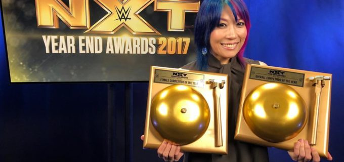 【WWE】174連勝のWWE史上最長記録を持つアスカがNXTイヤーエンド・アワード2017で2冠達成!