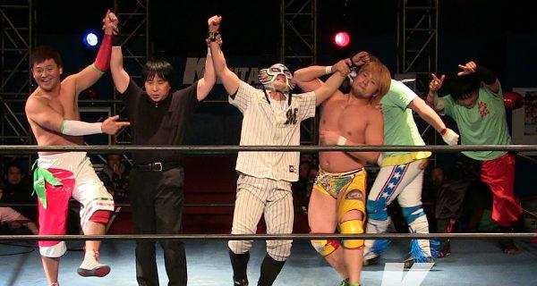 【KAIENTAI DOJO】マリーンズマスクがRoS加入!ST-Kタッグ獲りへ挑戦表明! ST-K前哨戦3WAYマッチは吉野コータローが勝利!