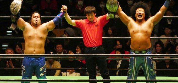 【プロレスリング・ノア】モハメド・ヨネ&クワイエット・ストームが長井、マイバッハ谷口の反則攻撃に耐え、2度目の防衛に成功!