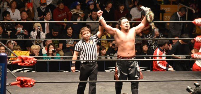 【新日本プロレス】ROHの荒くれファイター、ビアシティ・ブルーザーをGTRで撃破!後藤がNEVER王座二度目の防衛に成功!!