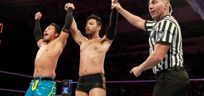 【WWE】205 Liveでヒデオ・イタミと戸澤陽がタッグを組んでネメス・アレクサンダー&スコット・ジェームス組に快勝!