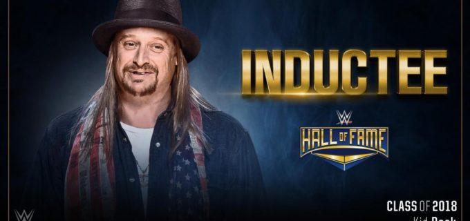 【WWE】キッド・ロックがセレブリティ部門として2018年のWWE殿堂入り!