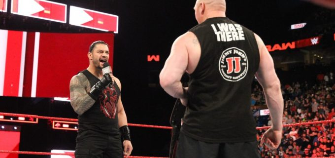 【WWE】レスナーとレインズがケージ戦を前に対峙/ロンダ、ミッキーにお仕置き