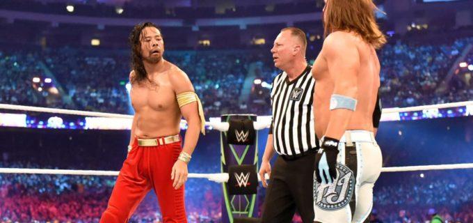 【WWE】<レッスルマニア34>中邑真輔、WWE王座戴冠ならず!AJのスタイルズクラッシュに敗退、試合後AJに暴行しヒール転向か!?