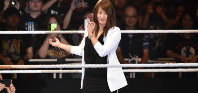 【WWE Live Japan】紫雷イオがWWE入団を発表!「この世界一のリングで私はこれから輝いていきます」