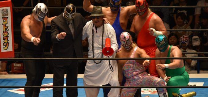 【新日本】 S・S・マシン引退にKY若松も駆け付け、マシン軍団が大暴れでL・I・Jに勝利! 引退セレモニーでは多くの仲間に囲まれ、最後は亡き妻へ感謝のメッセージを捧げ約40年のプロレス人生に終止符を打った!!