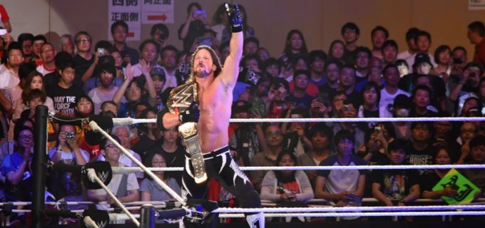 【WWE Live Japan】<2日目>メインはトリプルスレッドで中邑が乱入しAJが王座防衛に成功!(6.30両国大会)