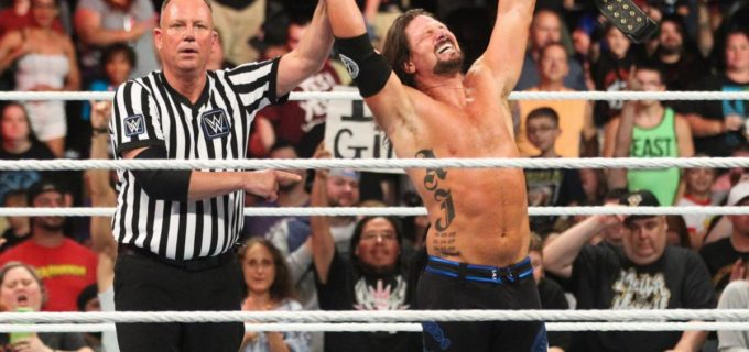 【WWE】AJスタイルズ、ルセフ相手に王座防衛