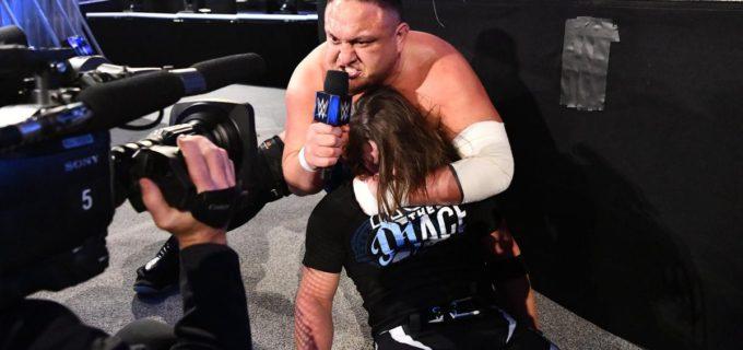 【WWE】AJスタイルズを失神KOさせたサモア・ジョーが「パパは寝ちゃったぞ」と家族を挑発