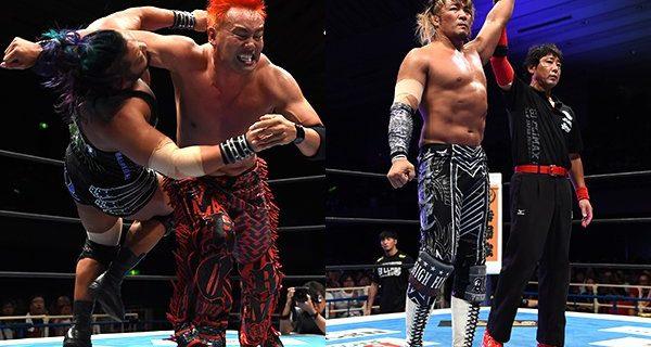 """【新日本】オカダがEVILに昨年の""""『G1』大阪""""のリベンジ! 棚橋はエルガンの猛攻を振り切り単独首位をキープ!"""