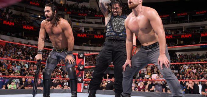 【WWE】レインズ、シールドの救援で王座防衛に成功