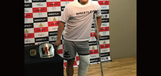 【W-1】「自分自身気付かされたことがあった。もう一度闘いたい」イケメン、左膝の靭帯損傷で欠場も、CIMAとの再戦には意欲!