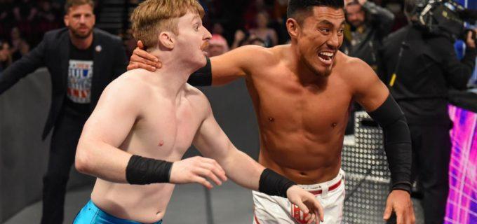 【WWE】戸澤陽が必殺のダイビング・セントーンでジャック・ギャラハーに報復