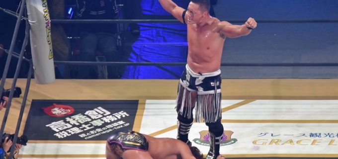 【DDT】21年のキャリアを誇るCIMAが竹下に完勝!#STRONGHEARTS がKO-D6人タッグ挑戦へ!!<10.21両国大会>