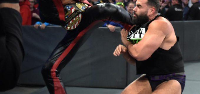 【WWE】中邑、キンシャサ3発でルセフ戦ぶち壊す
