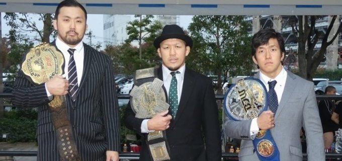 【大日本】11.11(日)両国大会公開調印式!橋本(和)「大日本のジュニアはここにあるということを見せたい」鈴木「リング上で全てを使って大日本プロレスを一度、壊そうと思います」竹田「狂って狂って、いいレスリングをして終わりたい」