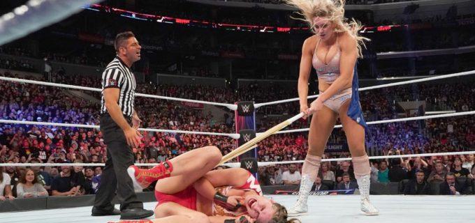【WWE】ロンダ勝利も、シャーロットから狂気の反則攻撃