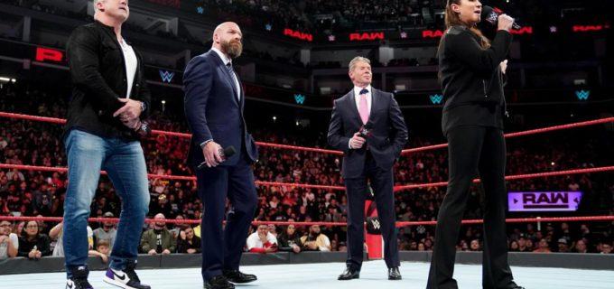 【WWE】マクマホン・ファミリー勢ぞろいでロウの番組改革を宣言