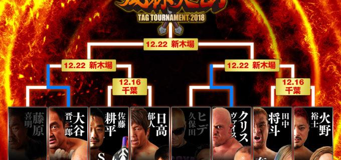 【ZERO1】1.16(日)『~風林火山タッグトーナメント2018~』千葉大会カード変更など直前情報