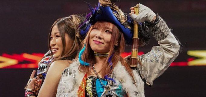 【WWE】カイリ・セイン&紫雷イオが因縁のMMAフォー・ホースウィメンを撃破
