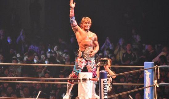 【新日本】ドームを揺るがす39分の大激闘を展開!棚橋がケニーの猛攻に耐え、4年ぶりIWGPヘビー級王座を奪取!!
