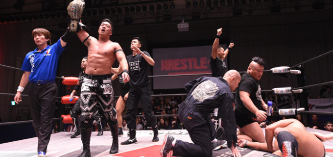 【W-1】芦野との激闘を制したT-Hawkが王座奪取!!試合後、近藤登場で#STRONGHEARTSとの対戦を表明!