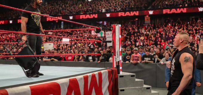 【WWE】レッスルマニアを前にレスナーとロリンズが一触即発!