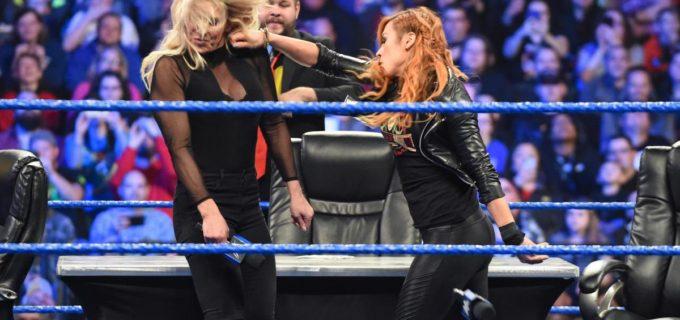 【WWE】ベッキーとシャーロットがブチ切れの殴り合い