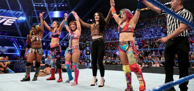 【WWE】アスカ&カイリがタッグチーム結成!カイリはスマックダウンデビュー戦を白星発進!