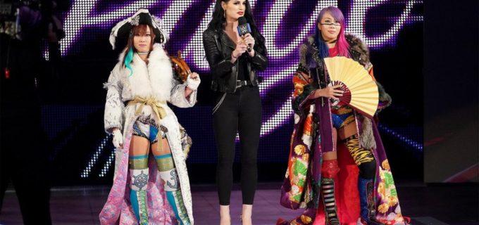 【WWE】「勝てるやろ!」アスカ&カイリがマンディ&ソーニャに宣戦布告