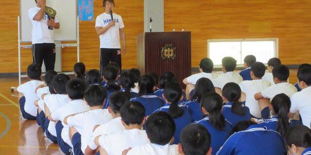 【ZERO1】日高&岩﨑が6.1浜田大会を控え中学校で特別授業!