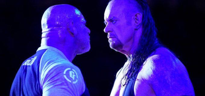 【WWE】ゴールドバーグとアンダーテイカーが決戦前に対峙!