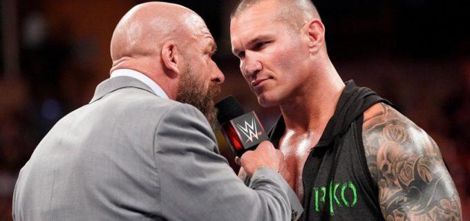 【WWE】PPV「スーパー・ショーダウン」で激突するトリプルHとオートンが一触即発!