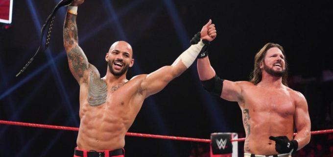 【WWE】AJスタイルズがフェノメナール・フォアアームでリコシェを撃破