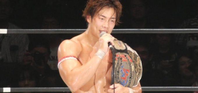 【DDT】竹下幸之介が遠藤哲哉から勝利でKO-D無差別級ベルトを奪還!竹下「世界に誇れるナンバーワンの団体に必ずしてみせます」